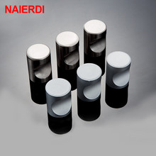 NAIERDI Single Hole Door Handles Knobs Zinc Alloy Cabinet Knobs For Door Accessories Drawer Furniture Cabinet Handle Hardware 96mm door handle zinc alloy cabinet drawer single hole round handle