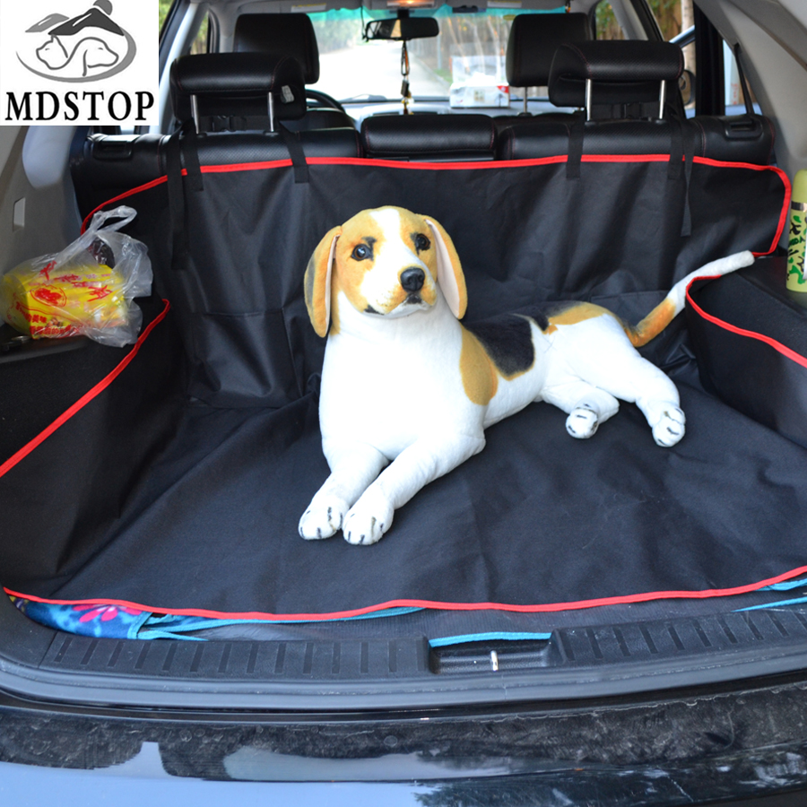 Red Black Universal Cargo Cover Trunk Mat For Pet Dog Car