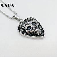 CARA New 316L Stainless Steel Mens Punk Hip Hop Necklace Pendant Gothetic Street Dance Fashion Jewelry