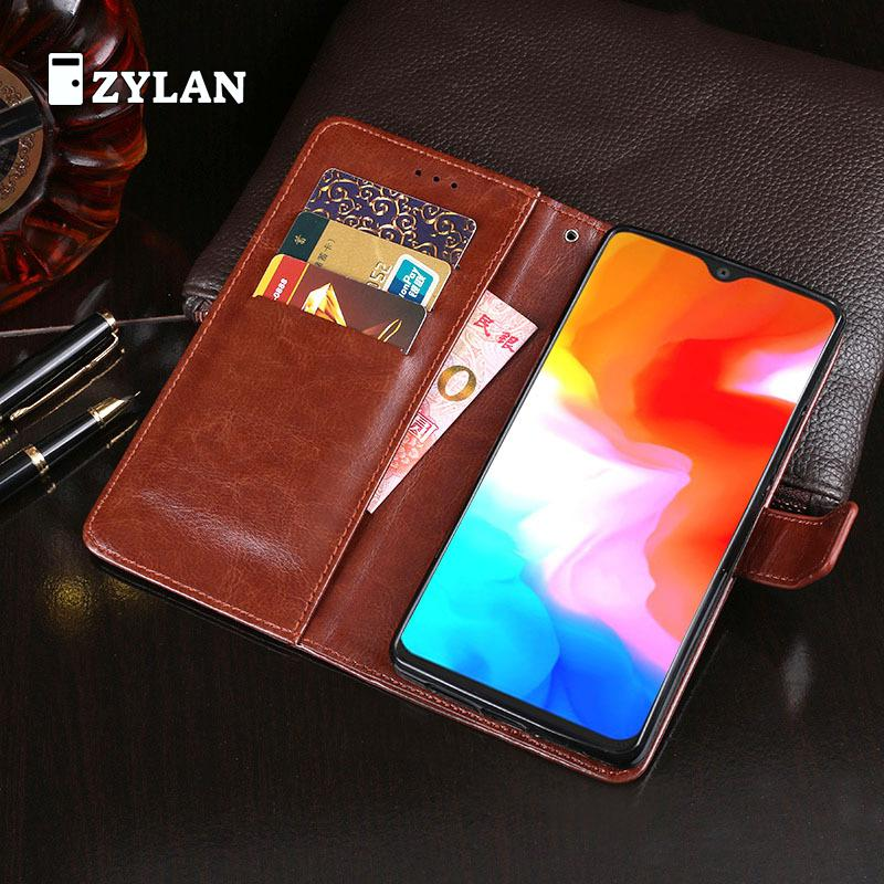 ZYLAN For <font><b>Oneplus</b></font> 6T Case Retro Wallet Stand Flip Leather Case Cover For <font><b>Oneplus</b></font> 6T <font><b>A6013</b></font> Back Case Cover Kickstand & FREE GIFT image