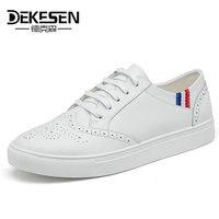 Dekesen hurtownie mężczyźni buty białe przypadkowi buty mężczyźni Mikrofibra jesień Białe buty chaussure femme Męskie Krasovki mężczyźni gumshoes