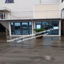 Prefabricated Multi Floor Flat Pack Container Living House  For Outdoor Leisure And Tourism