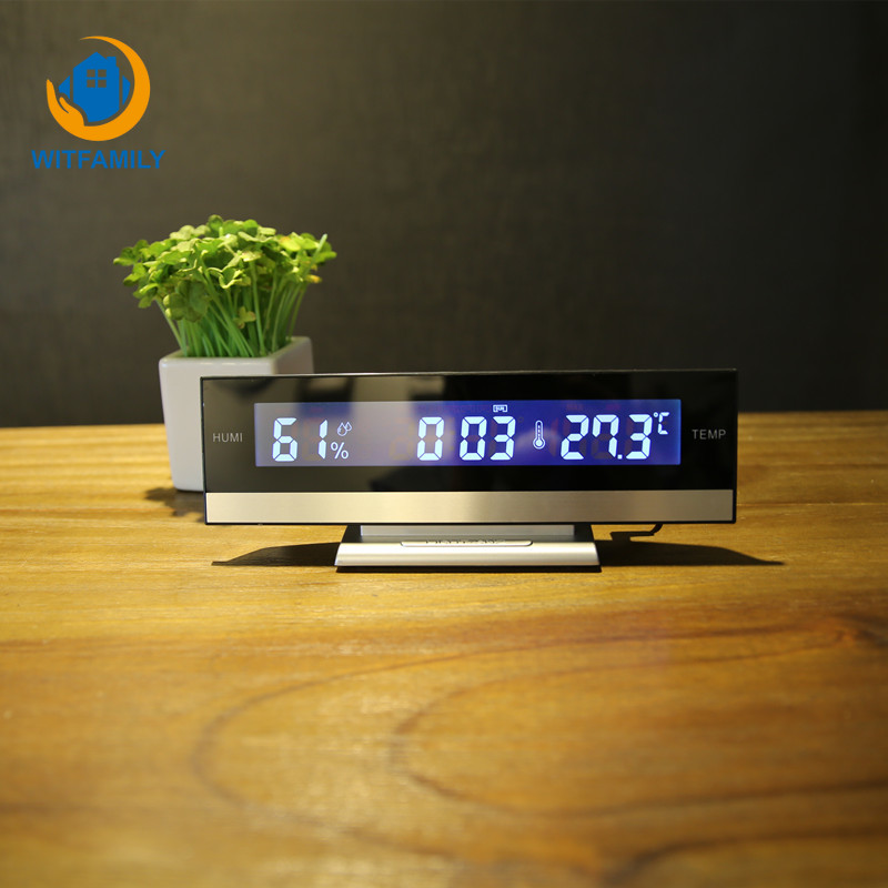 Temperature Humidity Clock Electronic Battery Home Digital LCD Big Large Screen LED Display Electronic Alarm Clock DeskTemperature Humidity Clock Electronic Battery Home Digital LCD Big Large Screen LED Display Electronic Alarm Clock Desk