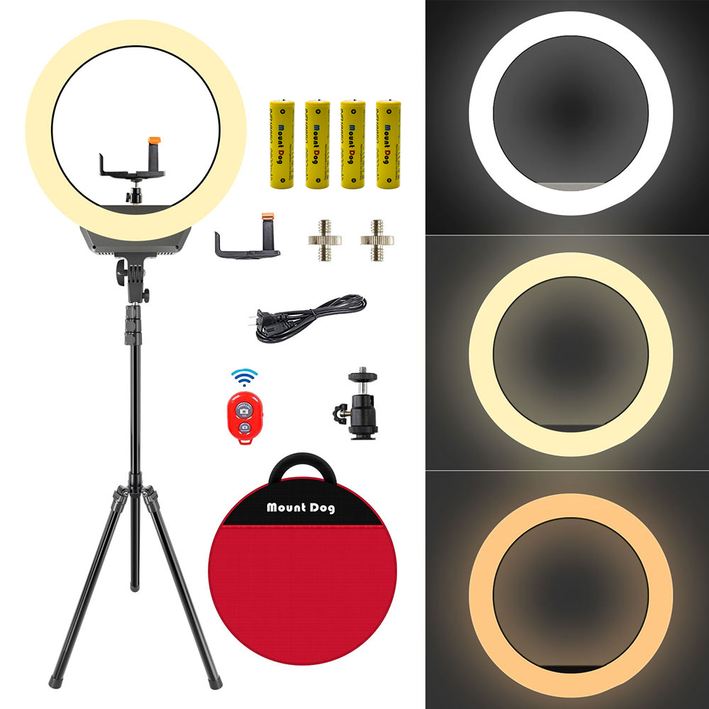 16 Dimmable LED Ring Photography Studio YouTube With 200CM light stand and phone holder camera photographic