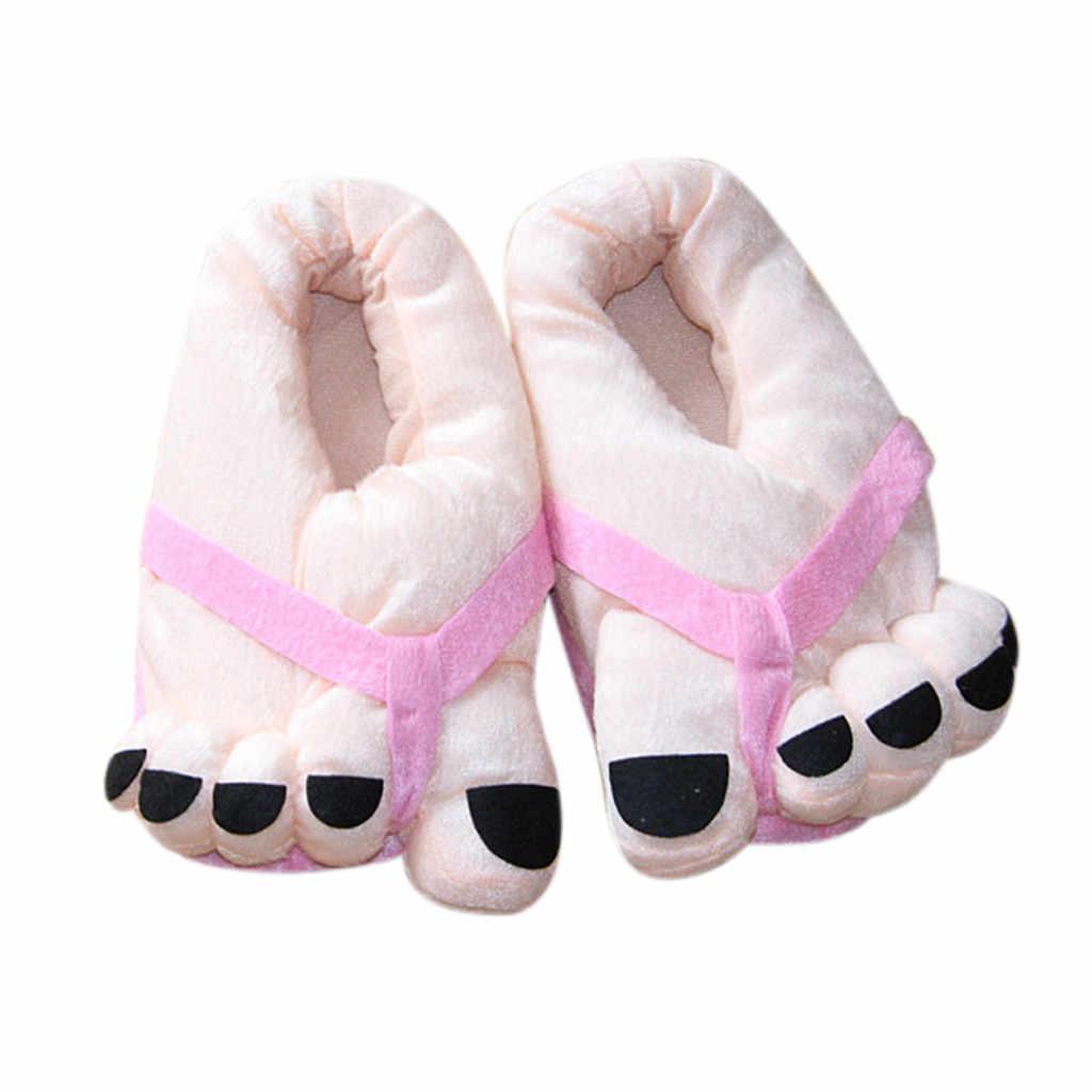 Unisex Zachte Warme Schoenen Pluche Grote Voeten Leuke Cartton Liefhebbers Paar Schoenen Vrouw Winter Slipper Schoenen Zapatos De Mujer Dropshipping