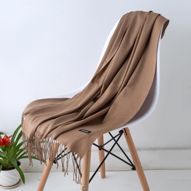 Spring Autumn cashmere tassel thin long scarves