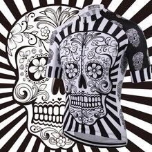 Белый череп сублимационной печати трикотаж Best 2019 Pro полиэстер велосипед одежда лето для мужчин быстросохнущая Топ велосип