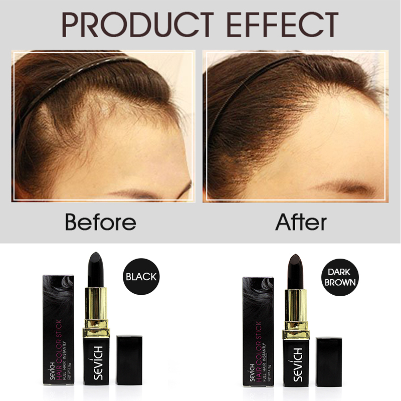 Sevich Long Lasting Black Brown Temporary Hair Dye Cream Stick Hair