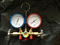 Refrigerator Tool Air Conditioner Manifold High And Low Gauge With Dosing Tube