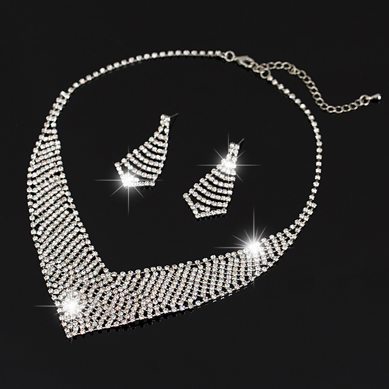 Hollow Crystal Necklace Pendant Austrian Crystal Silver Plats