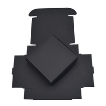 7*7*2.2cm Black Paper Boxes for Wedding Party Gift Packing DIY Handmade Soap Candy Package Kraft Box Decoration 50pcs/lot