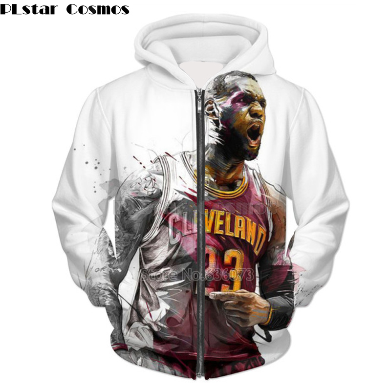 PLstar Cosmos 2018 New Fashion 3D Hoodie Jordan   LeBron James Print 3D  Zipper Hoodie Mens Womens Crewneck Sweatshirt 90ee732895