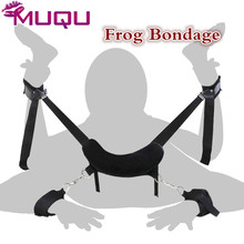 ФОТО frog bdsm bondage black ribbon neck mat hand cuffs ankle cuffs sex toys adult products love accessory bdsm sex toys for couples