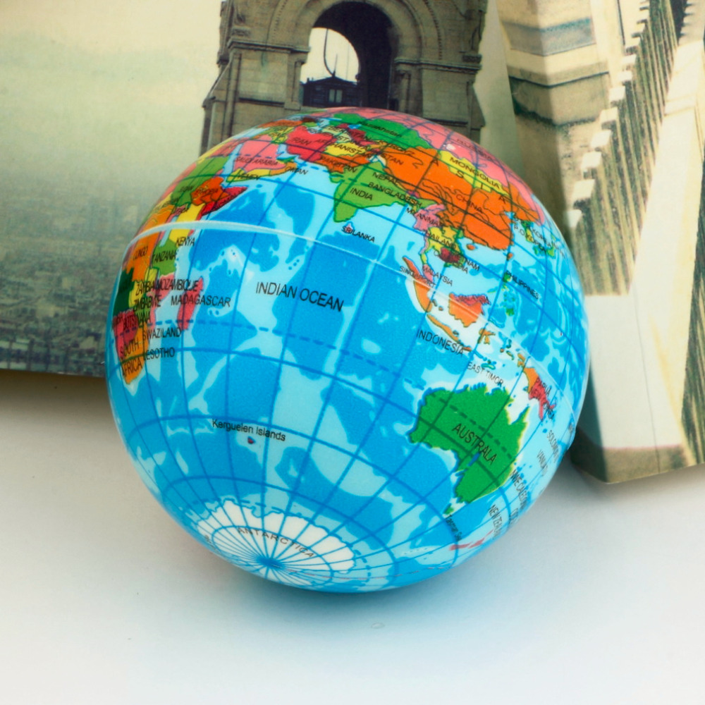 3pcs world map foam earth globe stress relief bouncy ball atlas geography toy th092 new sale in toy balls from toys hobbies on aliexpresscom alibaba