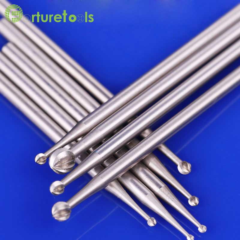 6pcs type A carving tools Router Bits dremel Rotary hand tools for jewelry engraving head 0.5~5.0mm Shank dia 2.35mm TZ59