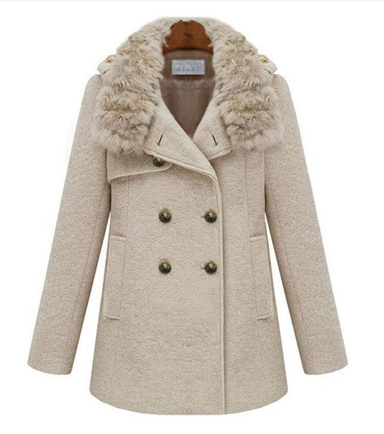 Famous brand 2015 winter thick wool coat women long wool coats
