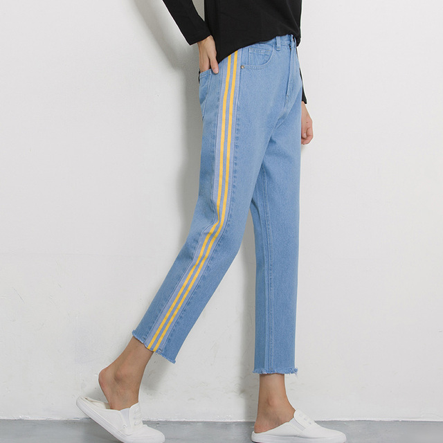 san francisco b6e1d e3c8e Bons-jeans-bleu-femme -haute-stretch-taille-denim-harem-pantalon-2017-automne-femelle-kpop-l-che.jpg 640x640.jpg
