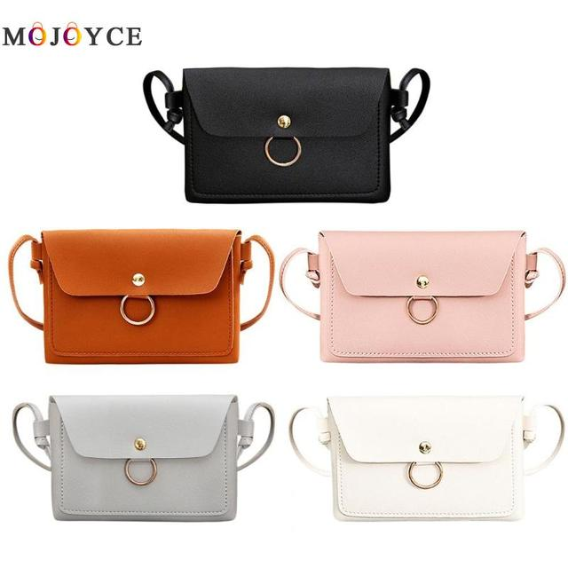 Women PU Leather Crossbody Messenger Bag Girls Small Sling Shoulder Bags Ladies Closure Cover Flap Handbag 1