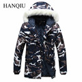 2017 New Brand Made of Goose Feather Winter Jacket Men Camouflage Down Jacket Men's Parka Coat Male Fur Collar Hooded Parkas