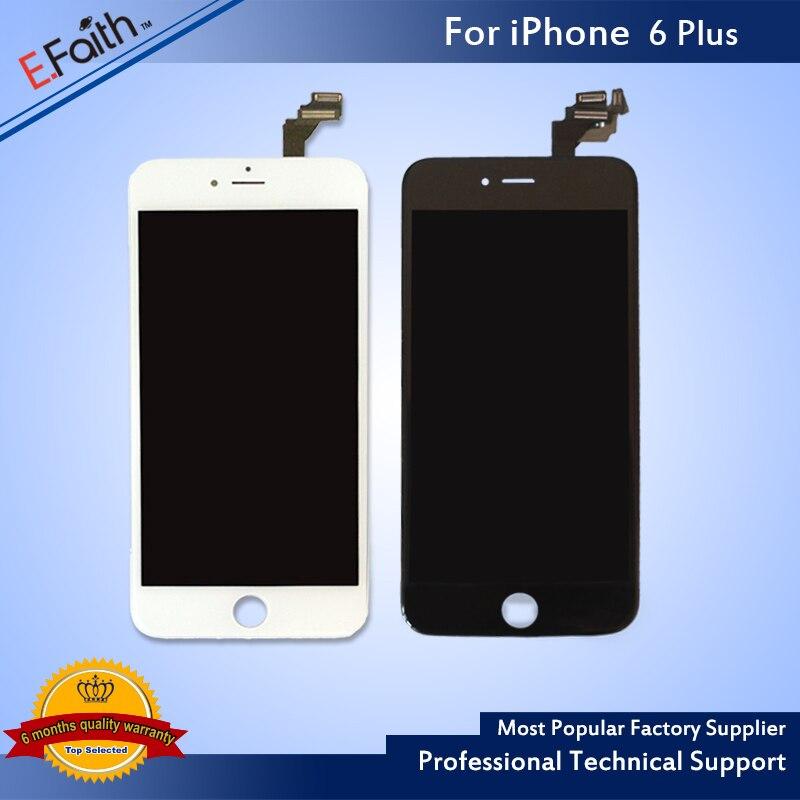 imágenes para 10 UNIDS/LOTE AAA 6 + LCD Pantalla de Repuesto para iPhone 6 plus 5.5 ''de Pantalla Táctil con el Montaje Del Digitizador Del LCD DHL libre Envía