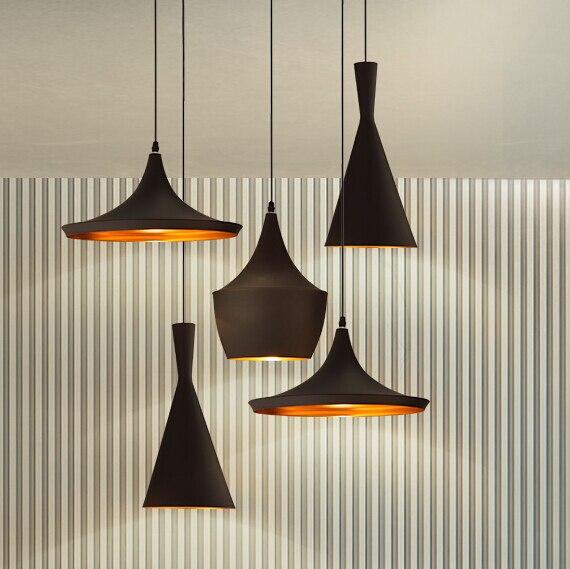 Design by Tom dixon Pendant Lamp Beat Light copper shade musical Chandelier Lights,A+B+C(Tall,Fat and Wide) AC110V 220V 230V240V strength training