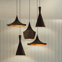 Дизайн Подвеска Лампа Удар Свет медь тень Люстра Фары, A + B + C (Высокий, Толстый и широкий) AC90-240V