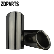 ZDPARTS 2pcs Car Exhaust Tip Muffler Pipe Cover For VW Golf 7 6 MK7 Bora Volkswagen Polo Jetta MK6 1.4T Accessories Automobiles