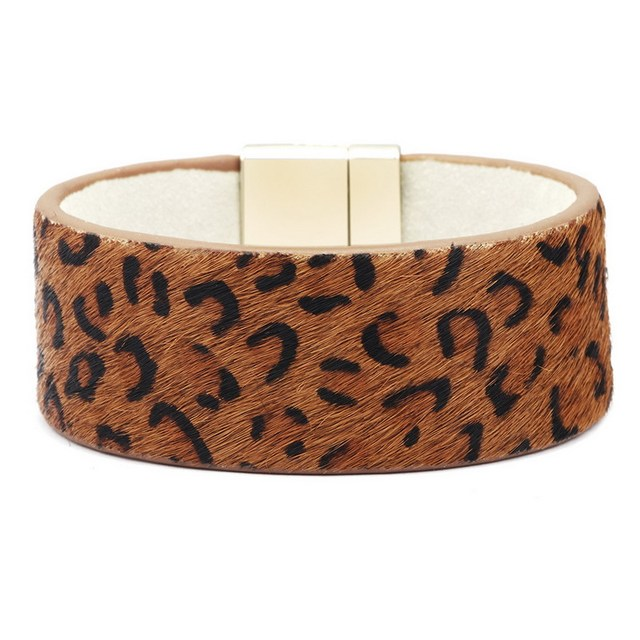 Leopard Leather Bracelet...