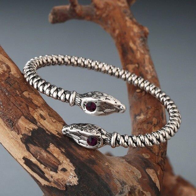 Bracelet Viking tête de mort serpent 5