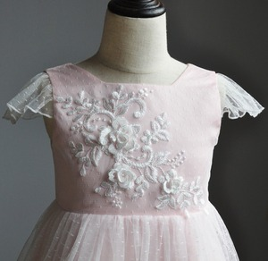 Image 5 - Flower Girl Dresses Lace 3D Flower Appliques Cap Sleeves Girls A line Gowns Birthday Party Toddler 2 11Y