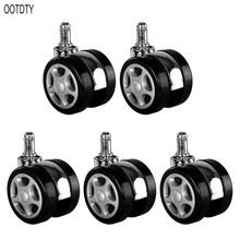 OOTDTY Office Chair Caster Wheels Roller Style Castor Wheel Replacement promotion spare part 2 twin wheel rotate caster roller for office chair