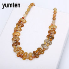 Yumten Topaz Bohemian Big Necklace Natural Stone Crystal Fashion Men & Women Bead Chain Exquisite Handmade Jewelry Labradorite(China)
