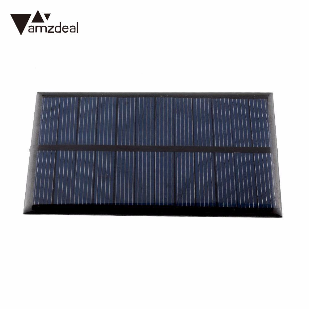 amzdeal New 80 pcs 6V 1W Solar Panel Module DIY For Light Battery Cell Phone Chargers Outdoor Powerbank Power Supply Solar Board