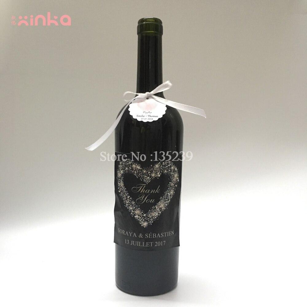 Custom Wedding Wine Bottle Label, Customizable Wine Labels Bridal ...