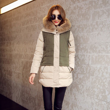 Thicker Hooded Winter New Down Jacket Women Fashion Warm Long Paragraph   Nagymaros Collar Slim Commuter Female Down Coat C524