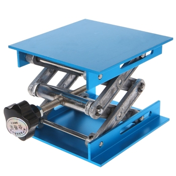 4 #8222 x 4 #8221 aluminiowy podnośnik podnośnik hydrauliczny stół do obróbki drewna grawerowanie Lab podnoszenia stojak stojak 649E tanie i dobre opinie BENGU 649E5AC800529 Aluminum Oxide Blue app 100mmx100mm 3 94inx3 94in 47-143mm 1 Pc