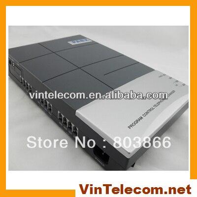 VinTelecom CS + 416 Téléphone PBX système de téléphone de bureau avec serrure de porte ouvre caractéristique et enregistrables OGM caractéristique