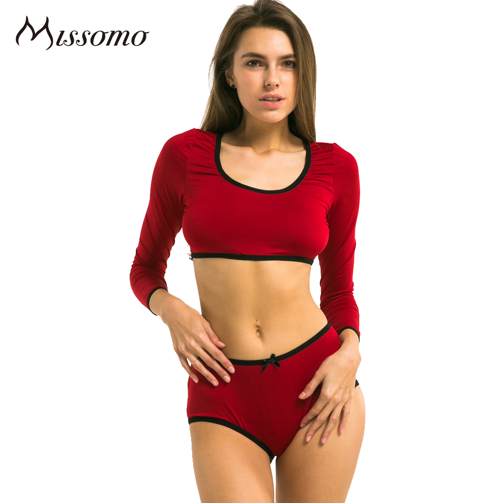 46de2d68ac8ad Missomo 2018 New Fashion Women Red Black Sexy Push Up Lace Wireless Bralettes  Underwear Soft Breathable High-Rise Bra