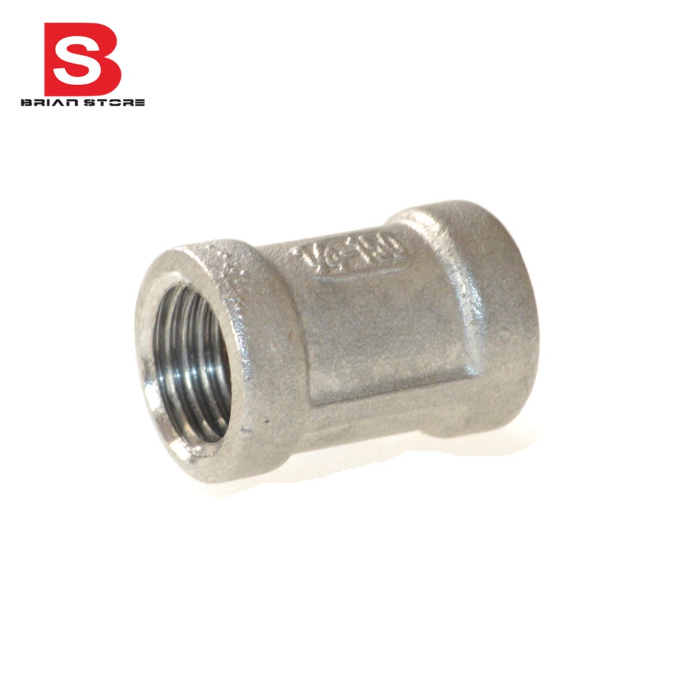 304 Stainless Steel Female Straight Jointer Pipe Connection connector Fittings