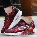 Hombres Casual Zapatos Color Mezclado Lace Up Denim Aire Caminando Amantes de Los Zapatos Del Deporte Entrenadores Superestrella Canasta Femme Zapatillas Ocio Rojo