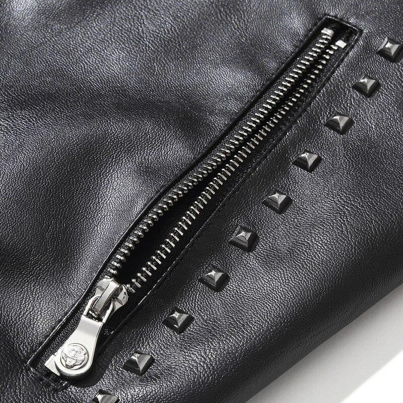 Woodvoice Haute Pu Les 2017 Black Veste Lavé Vêtements En Cuir Hommes De Survêtement Automne Style Européen Nouveau Marque Manteau Qualité Hiver P0wOqnrTP