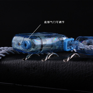 Image 4 - Briquet Portable étanche pour lextérieur, Jet Butane, Turbo, feu 1300 C, tuyau coupe vent, tuyau de Camping, sans gaz