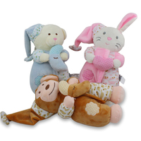 26CM Musical Player Animal Soft Plush Dolls Stuffed Rabbit Bear Monkey Baby Toys Comfortable Appease Sleeping
