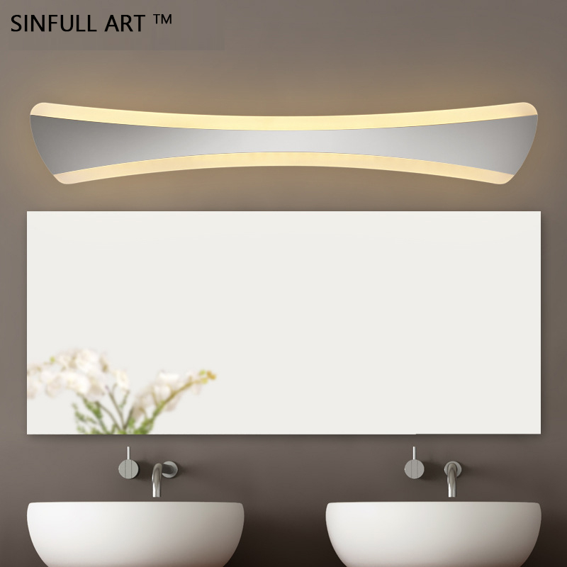 Modern Bathroom Toilet Mirror Light Acrylic 12W15W Led Wall Lamp L52CM Washroom Sconce AC90-260V Indoor Home Lighting Luminaire luxury modern white acrylic 12w led bathroom wall lamp mirror front fashion wall light showroom washroom wall lamp