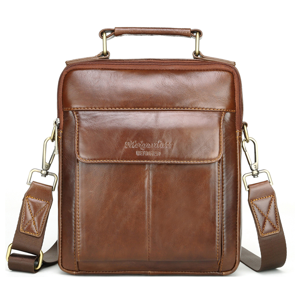 Meigardass Genuine Leather Mens Messenger Bags Casual Shoulder Bags Mens Travel Crossbody Bag Tote Purse Office iPad HandbagsMeigardass Genuine Leather Mens Messenger Bags Casual Shoulder Bags Mens Travel Crossbody Bag Tote Purse Office iPad Handbags