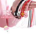 1 Pcs 40CM Cute Cartoon Silicone Universal Mobile Phone Lanyard Cords Strap Sports Neck Strap Lanyard / ID Card Lanyard