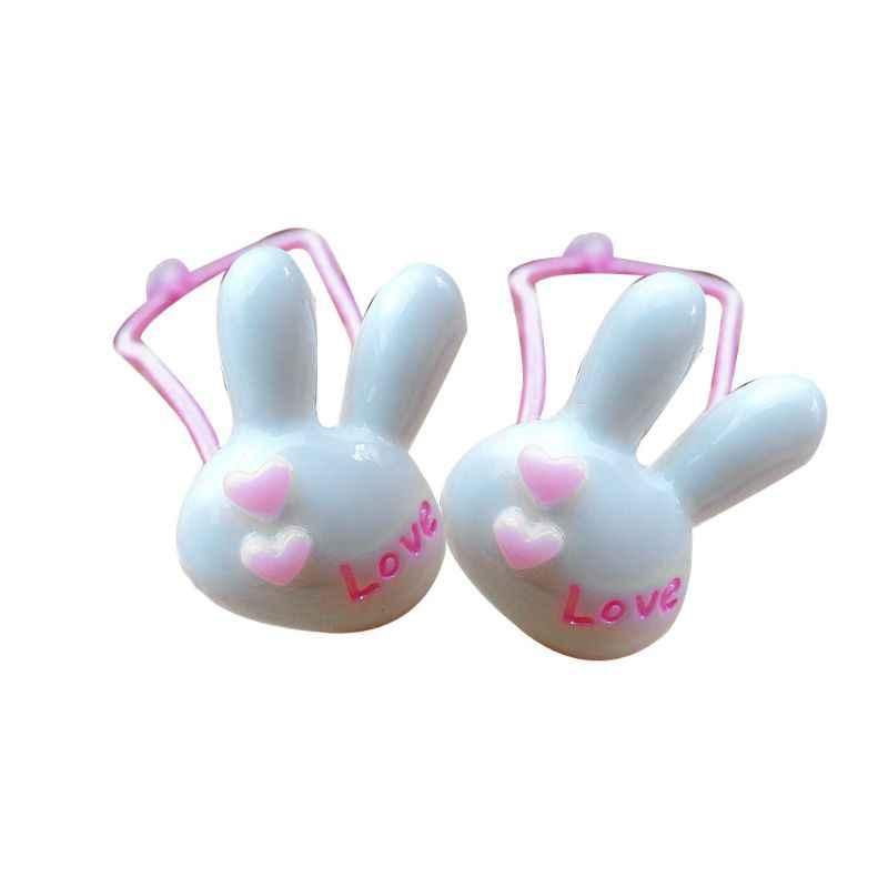 1 пара Для детей упругие веревки волосы милый мультфильм кролик голову конфеты цветной хвост держатель Резные буквы тонкие резинки для волос