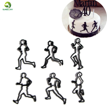 6PCS/SET Running Theme Cookie Cutter Plastic Run Sports Fondant Biscuit Mold Sugarcraft Cake Decorating Tools