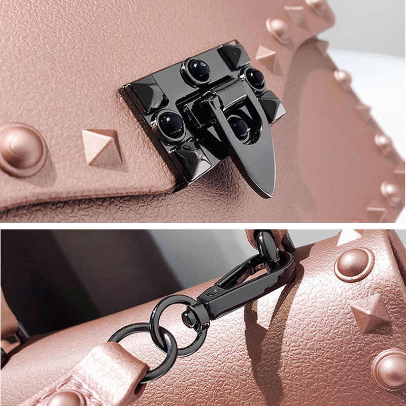 Гелевые сумки для женщин жесткая сумка модная сумка-мессенджер с заклепками женская сумка на плечо Маленькие Большие женские сумки высокого качества женские сумки