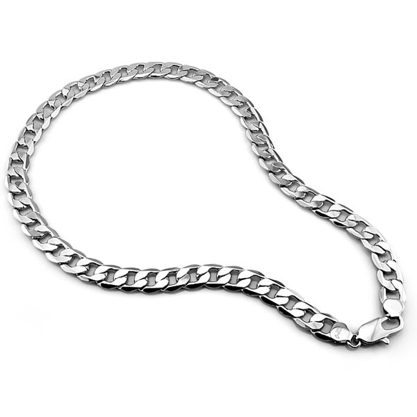 men sterling silver necklace solid 100 pure silver menu0027s thick necklace925 sterling silver chain 12mm 26 inch